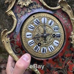 Cartel Napoléon III Marqueterie Boulle Pendule Horloge Louis XV Ancien Bronze