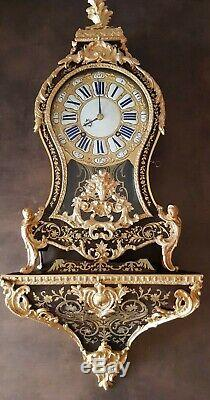 Cartel XVIII Marqueterie Boulle Napoléon III, pendule bronze, clock