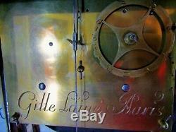 Cartel XVIII siècle signé Gille Lainé Empire pendule bronze clock Napoléon III