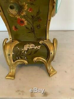 Cartel de style Louis XV Vernis Martin Bronze doré XIX siècle Napoléon III