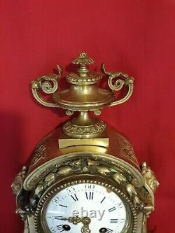 Cartel en bronze doré, Horloge Ancienne, époque Napoléon III