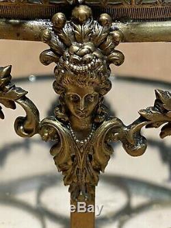 Cave À Liqueur Époque Napoleon III Bronze Doré, Ciselé, Aphrodites, Tete Lion