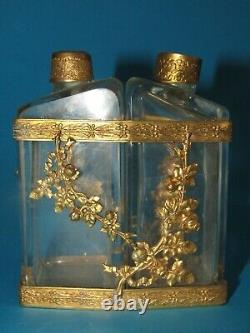 Cave A Parfum Ancien Flacons Bronze Antique Perfume Case Bottle Napoleon III