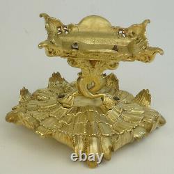 Centre de table bronze XIXeme, surtout table, vide poche, baguier, old centerpiece