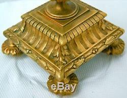Chandelier bronze 3 branches. Ancien 19èm, Napoléon III. H 28 cm 1,3 kg