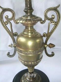 Chandelier candélabre bronze Napoléon III marbre pendule garniture cheminée