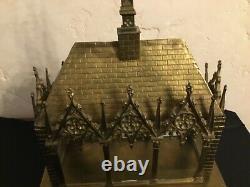 # Châsse RELIQUAIRE ANCIEN BRONZE ormolu 19ème siècle /antique church reliquary