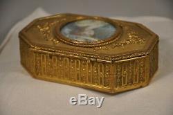 Coffret Ancien Napoleon III Portrait Miniature Signe Antique Case