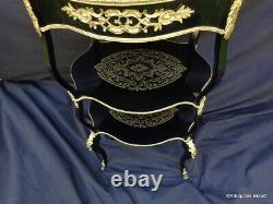 Coiffeuse en marqueterie Boulle Noire et bronze époque Napoléon III