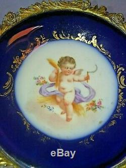 Coupe Monture Bronze Porcelaine De Samson Dans Le Gout Sèvres