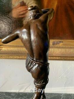 Duret Francisque-Joseph (1804-1865) paire de bronzes Danseurs Napolitain