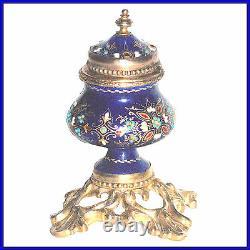 Encrier Email Bressan Pietement Bronze Epoque Napoleon III Circa 1860