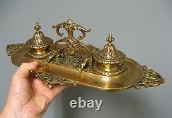 Encrier En Bronze XIXe Barbedienne Fondeur. Napoléon III