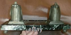 Encrier bronze & marbre SPHINX style Empire retour Egypte -Accident & manque