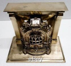 Etonnant Ancien BRONZE décoratif CHEMINEE POELE XIXème