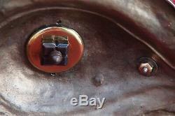 Exceptionnelle lampe à pétrole ancienne La chimère Bronze et cristal