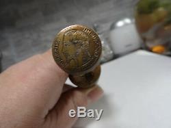 Fer A Dorer En Bronze- Sceau Empereur Napoleon III