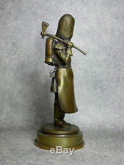 Fremiet. Sapeur Dinfanterie Second Empire. Napoleon Iii. Bronze. (date 1854)