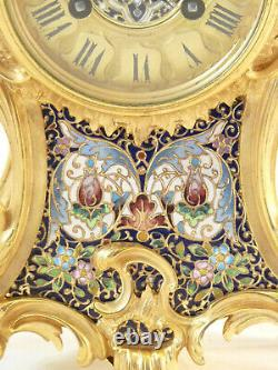 Garniture De Cheminée Napoléon III En Bronze Cloisonné pendule clock uhr reloj
