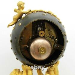 Garniture Horloge Pendule Candelabres Napoleon III Bronze doré marbre du 19ème