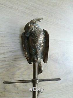 Grand Baguier Porte-bijoux Bronze Perchoir Perroquet XIXè Napoléon III 19thC