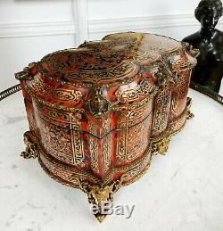 Grand Coffret D'époque Napoléon III En Marqueterie Boulle Orné De Bronze Doré