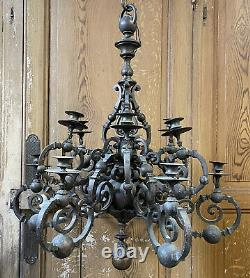 Grand Lustre Bronze Ancien XIXeme French Chandelier Napoléon III Empire