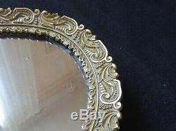 Grand Surtout de table / plateau miroir en bronze napoleon III XIXeme centre