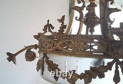 Grand lustre en bronze Napoléon III