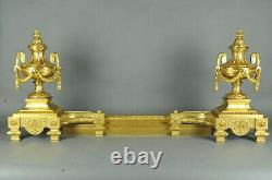 Grande Paire De Chenets Napoléon III