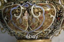 Grande coupe en faïence émaillée et bronze doré, Napoléon III