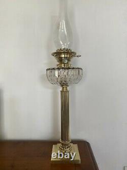 Grande lampe à pétrole DUPLEX / BACCARAT et BRONZE