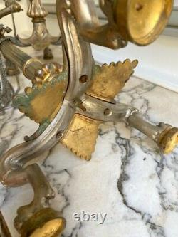 Grands candélabres en bronze Napoléon III
