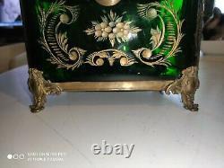 Gros Coffret Cristal De Bohême Taillé Monture Bronze Napoléon III