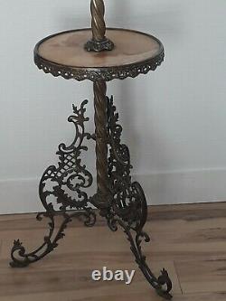 Guéridon Lampe à pétrole Lampe de Parquet Napoléon 3 ou table de fumeur