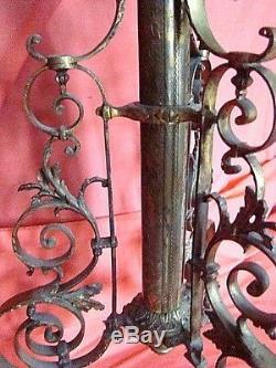 Guéridon lampadaire en bronze et onyx époque Napoléon III