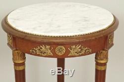 Guéridon style Empire acajou bronze doré Napoléon III