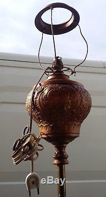 Guéridon table de fumeur en bronze lampe Napoléon III