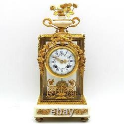Horloge Pendule d'époque Napoleon III -en Bronze dorè et marbre -du 19ème siècle