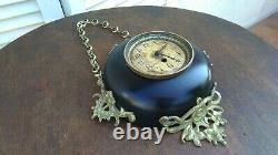 Horloge boulangère bronze et tôle XIXème Napoléon III