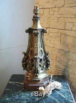 Important Pied De Lampe En Bronze Napolèon III