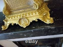 Importante Pendule/Cartel Napoléon III en Bronze Doré finement ciselé vers 1850