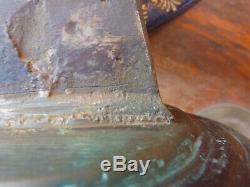 Importante cloche en bronze, 10 kg, marquage, avec son etrier, XIXème, joli son, H30cm