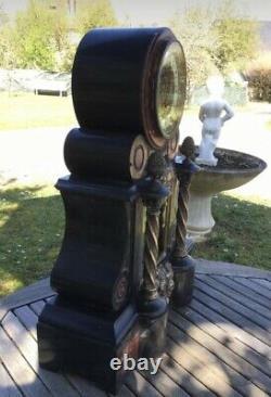 Imposante Pendule de Notaire Napoléon III Marbre + Bronzes. LEFRANC à Essonnes