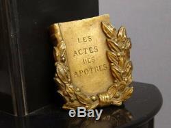 Imposante pendule bronze Saint Paul apôtre horloge clock orologio reloj uhr