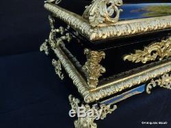 Impressionant Coffre noir et bronze Boulle Epoque Napoléon III