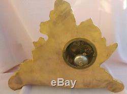 Japy Frères 1855 Antique bronze doré Horloge pendule FR