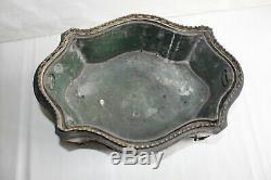 Jardinière époque Napoléon III en marqueterie et bronze