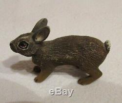 LAPIN MINIATURE BRONZE DE VIENNE Fin 19ème siècle / Antique little rabbit
