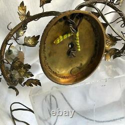 Lampe Au Peroquet Chinois Porcelaine Bronze Et Laiton 19 Eme Siecle Bon Etat
